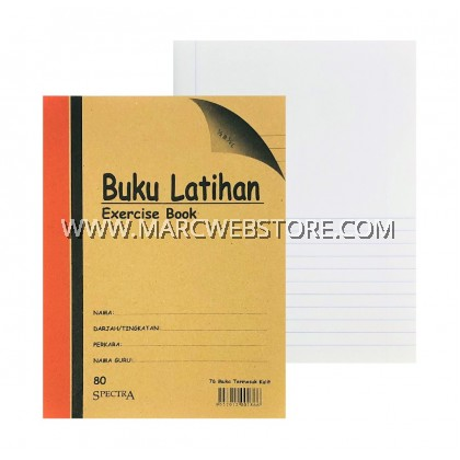 SPECTRA EXERCISE BOOK (½B ½L) 80PAGES