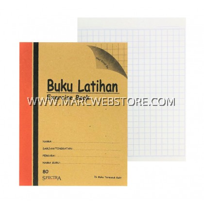 SPECTRA EXERCISE BOOK (MED SMALL SQUARE) 80PAGES