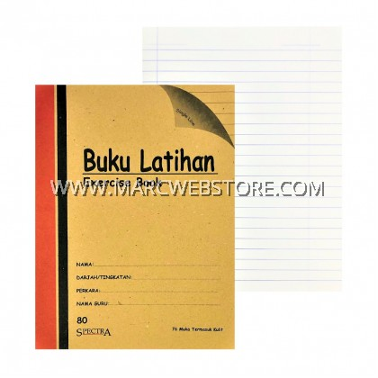 SPECTRA EXERCISE BOOK (SINGLE LINE) 80PAGES