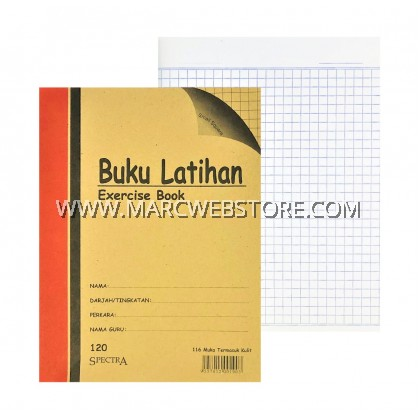 SPECTRA EXERCISE BOOK (SMALL SQUARE) 120PAGES